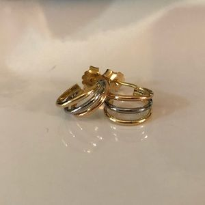 NEW Tricolor Gold Earrings